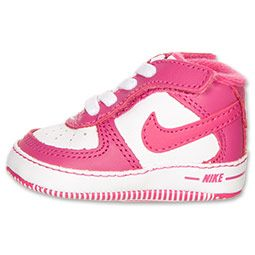 Pink nike crib shoes for baby girl