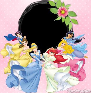 Arts digitais moldura princesas disney fond de feuille - Cadre photo transparent plastique ...