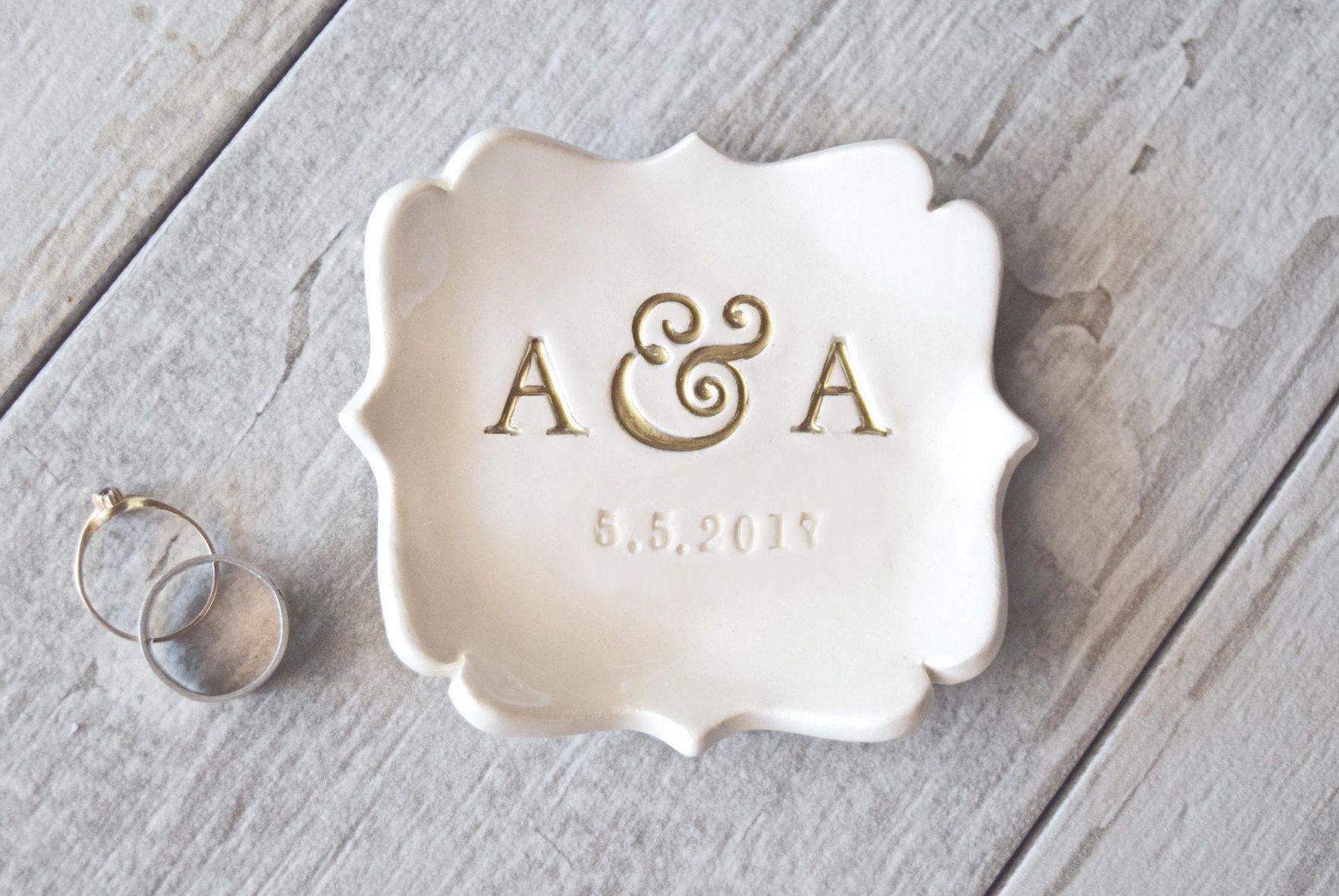 Personalize Wedding Gift Engagement Ring Holder Wedding Ring Dish