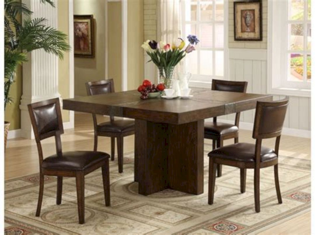 Wonderful 25 Square Dining Room Table Design Ideas Freshouz Com Square Dining Room Table Square Dining Tables Dining Table Bases