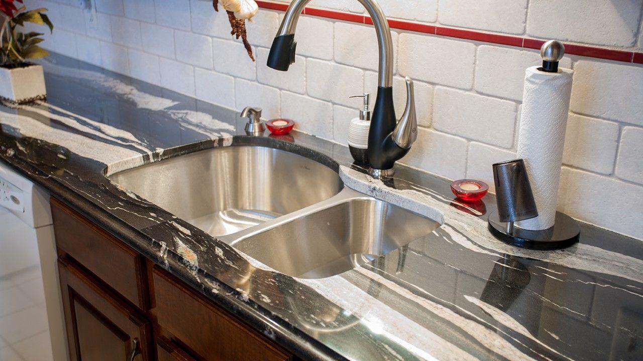 Copacabana Granite Kitchen Countertop Black And White Stone Countertops Kitchen Countertops Granite Kitchen