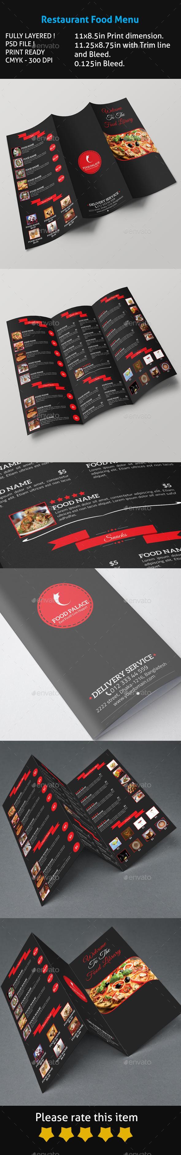 Restaurant Food Menu | Diseño de menu, Pastelería y Café