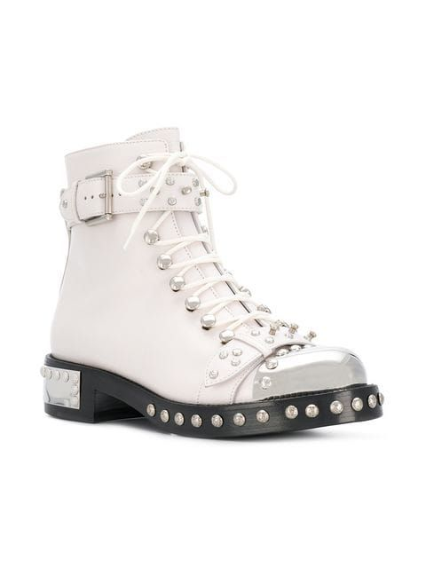f2784a22945c2 Alexander McQueen studded ankle boots   Women's in 2019   Studded ...