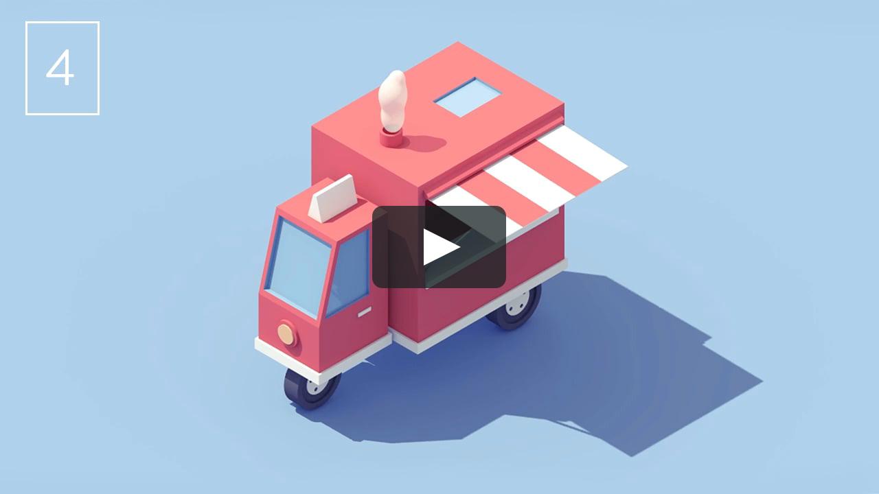 Vehicle 4 Food Truck Motion Design Animation Motion Design Grid Design