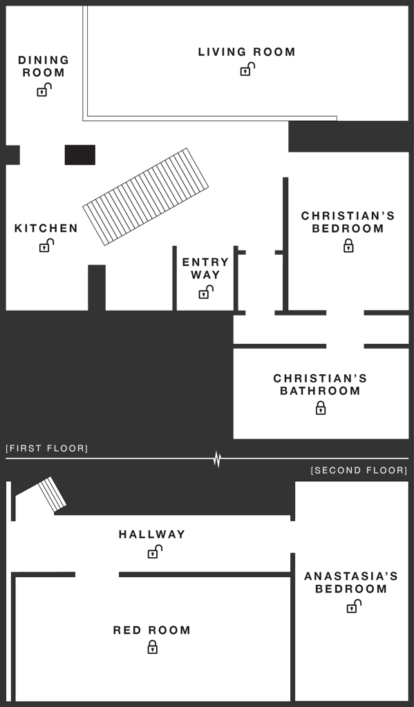 Christian Grey's Apartment  Check out the interactive apartment, it is so cool!  What a great idea! http://www.christiangreysapartment.com