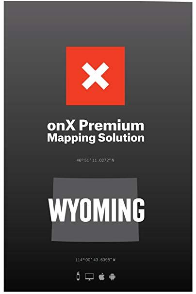onX HUNT Wyoming Digital Hunting Map For Garmin GPS