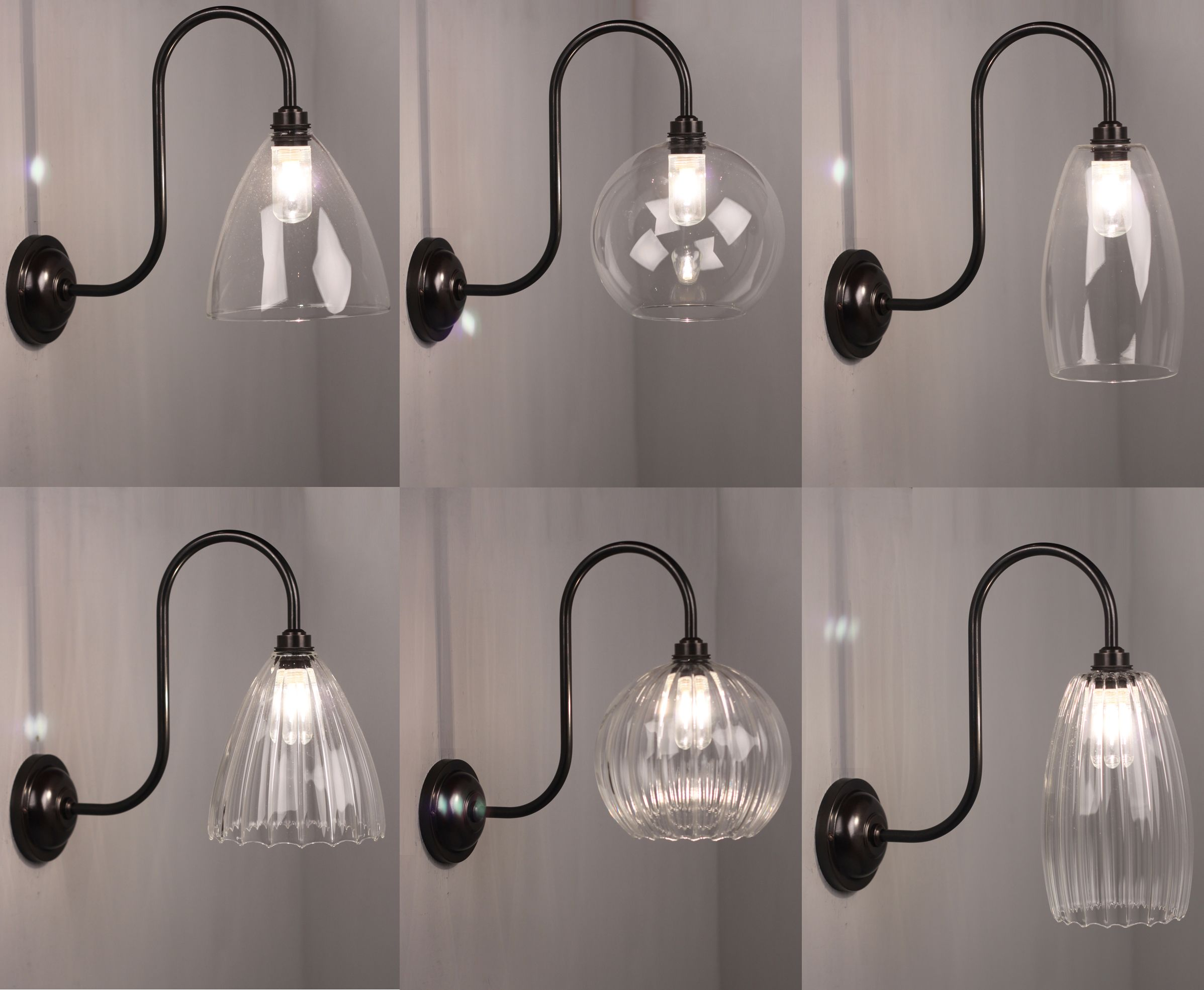 Our New Range Of Ip44 Rated Swan Neck Bathroom Lights With