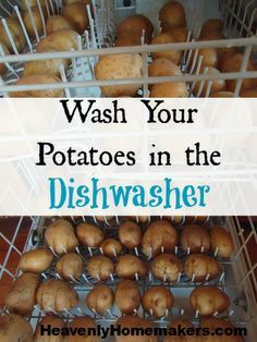 Thanksgiving hack: Wash Potatoes in the Dishwasher (sans soap) when making a big batch of mashed potatoes.