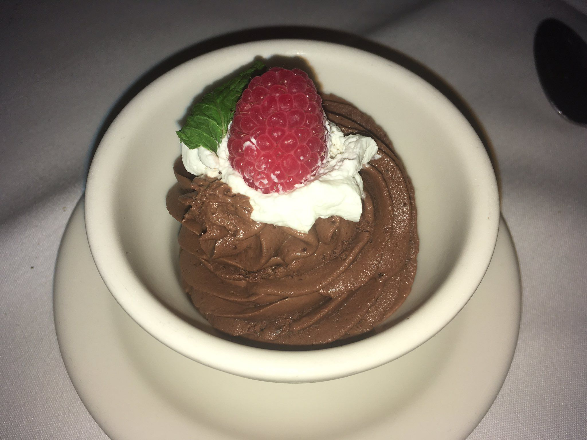 And we are topping off dinner @Mortons with some Chocolate Mousse! @VisitOrlando #MagicalDining https://t.co/Ftb8NzWPV6