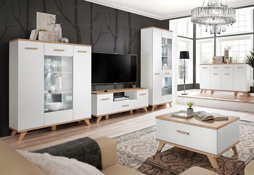 Meble Legg 6 Witryna Komoda Led Bialy Grafit Nozki 7560287509 Allegro Pl Wiecej Niz Aukcje Furniture Home Decor Home