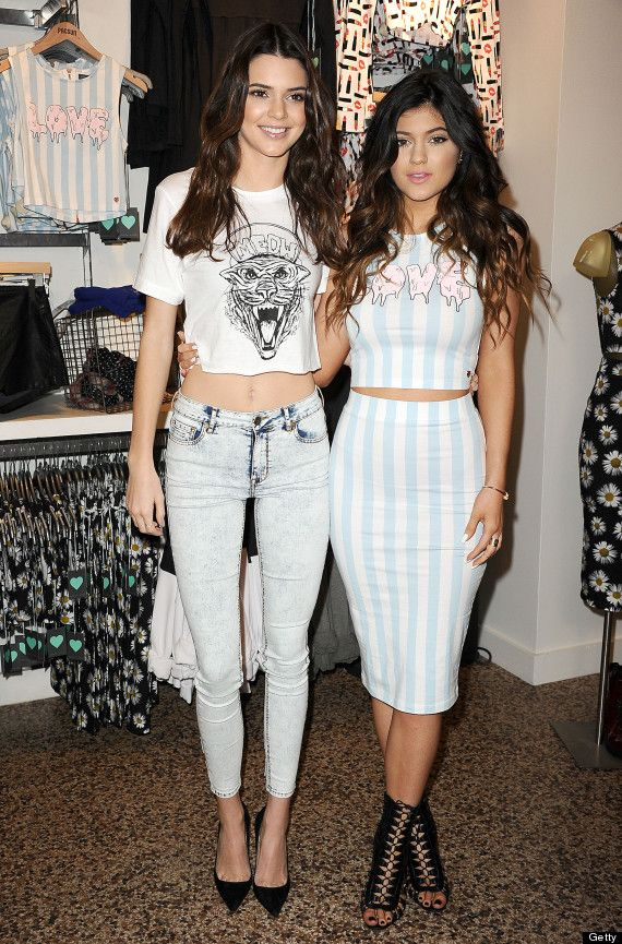 Kendall And Kylie Jenner Rock Crop Tops At PacSun Event