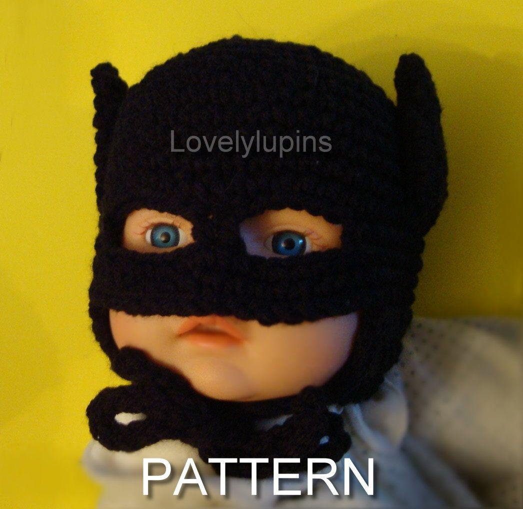 Moderno Batman Patrón Del Sombrero De Ganchillo Festooning - Ideas ...