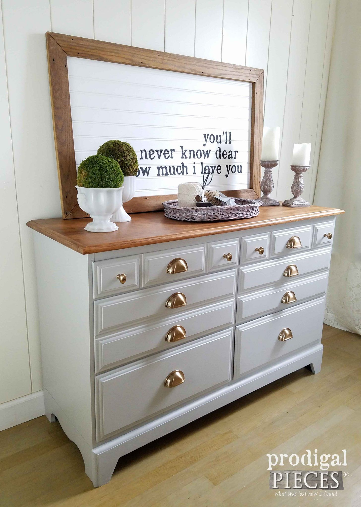 Updated dresser with pulls paint u stain painting techniques