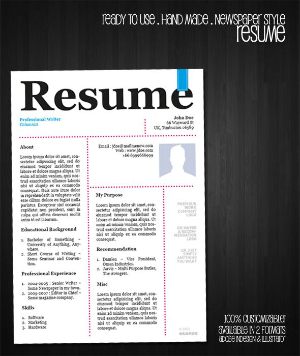 free resume template newspaper style by oldwerks deviantart com on