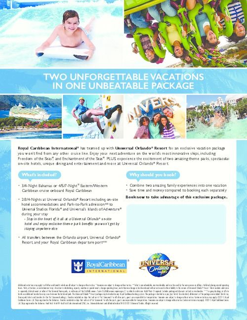 Last Minute Vacation Deals >> Universal Orlando Customizable Flyer Last Minute Travel