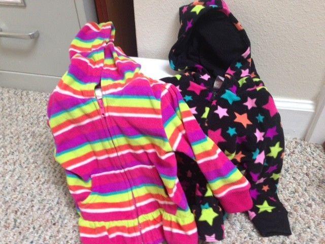 46414007a45f 2 Garanimals Infant Girls Long Sleeve Poly Fleece Hoodie Size 12M ...
