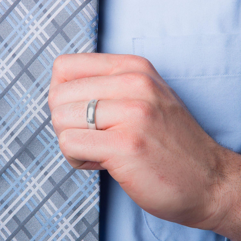 Cambridge Men\'s 5mm Platinum Wedding Band (Size 13), White ...
