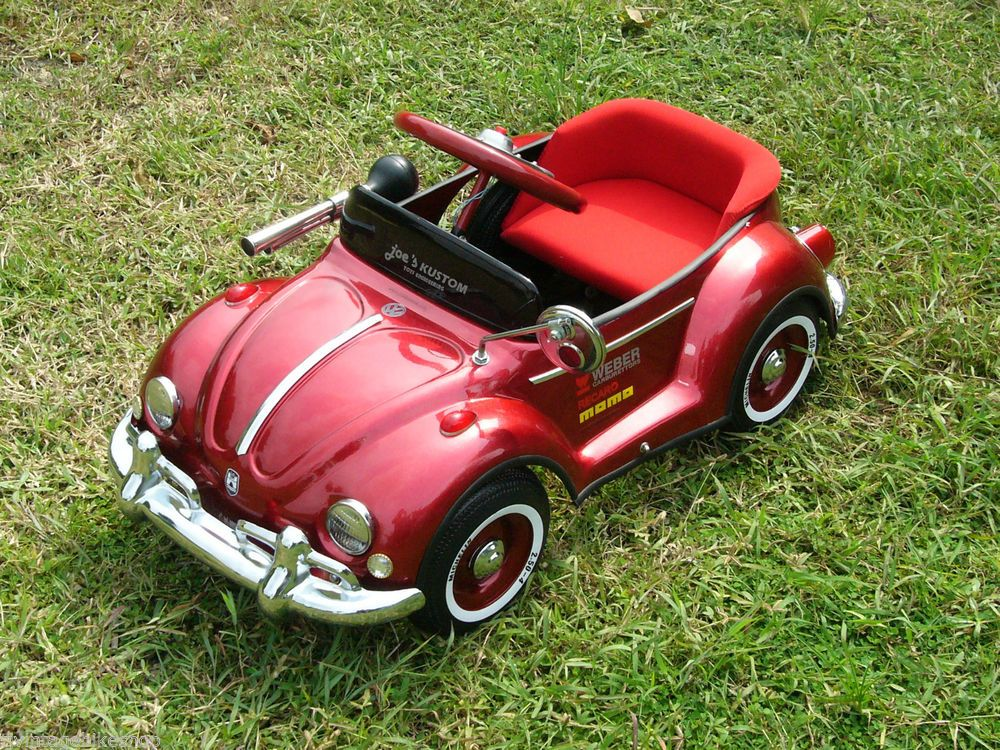 Metallic Red Bug Pedal Car Riding Toy 1960 New Cars