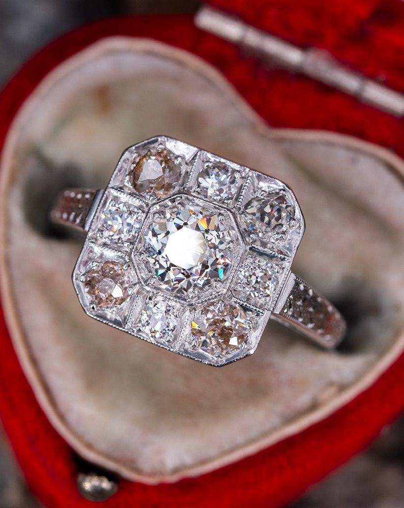 1920s Lambert Brothers Ring Antique engagement rings