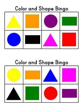 image about Shape Bingo Printable identify Straightforward Coloration and Form Bingo coaching Bingo, 2d styles