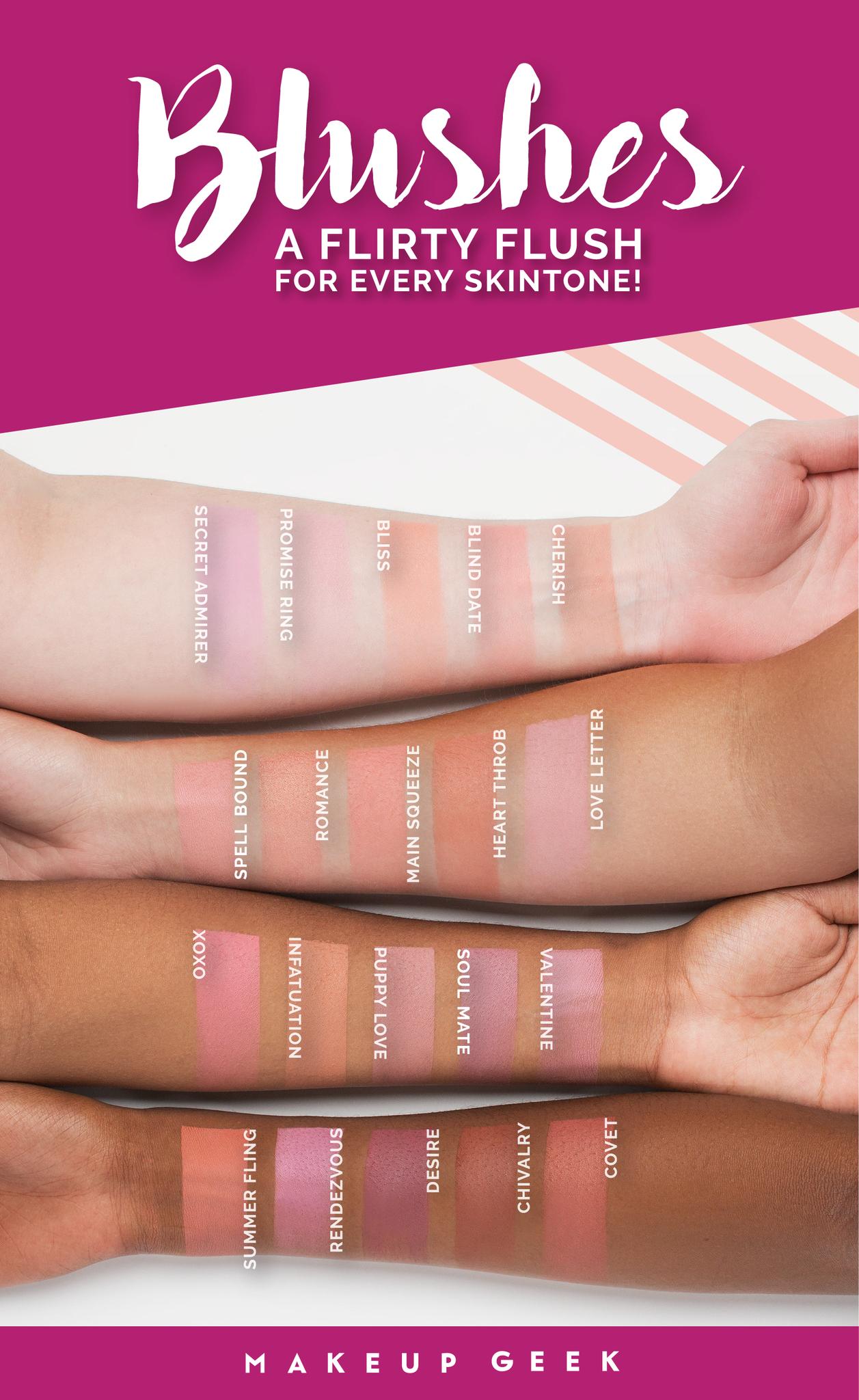 20 new and reformulated Makeup Geek Blushes! #makeupgeek