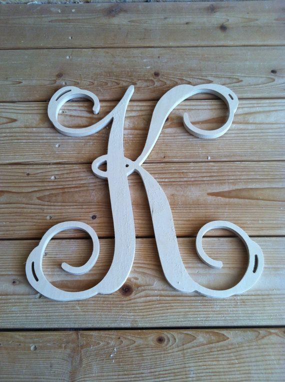 20 Inch Wooden Letters Monogram Vine Font By Worldoflettercraft