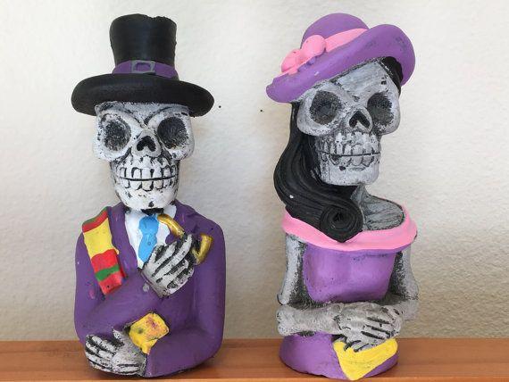 Sugar skulls Dia De Los Muertos couple by YourGreatestStory