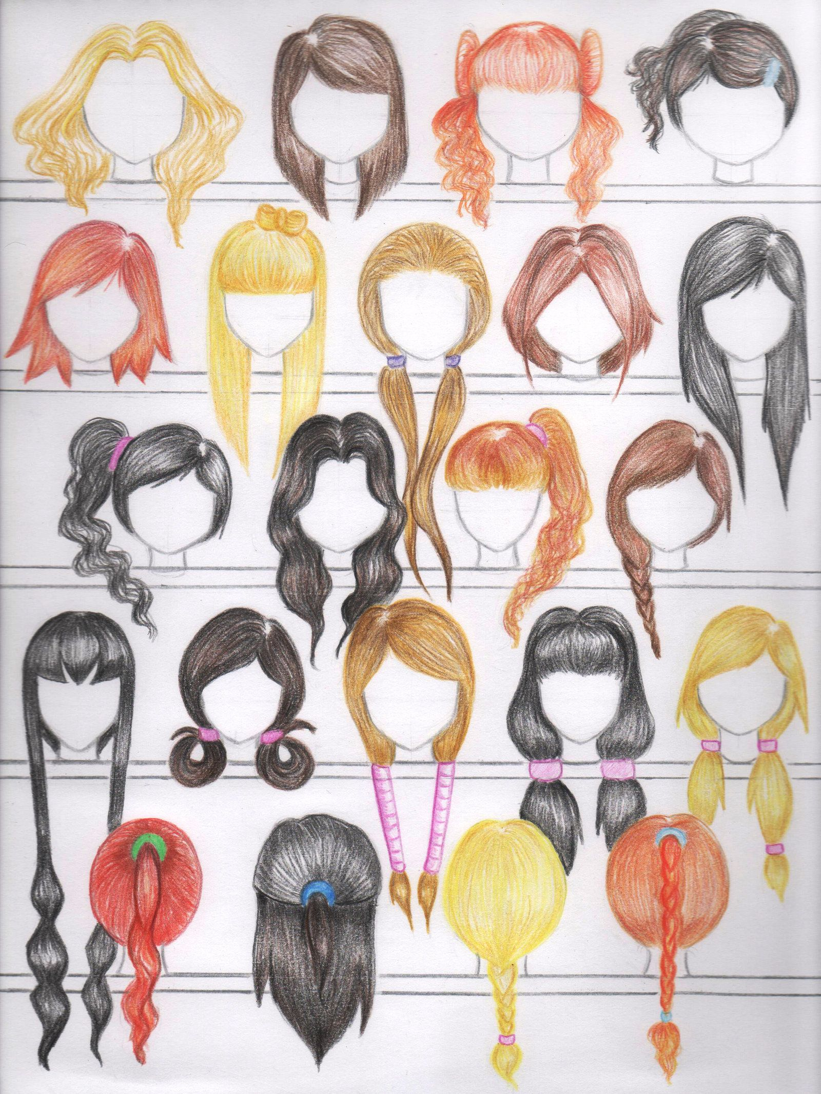 DeviantArt More Like 50 Female Anime Hairstyles by
