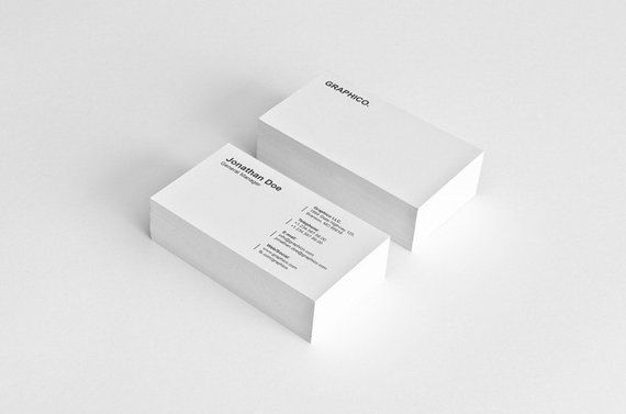 Simple Corporate Business Card Design Template Photoshop Templates