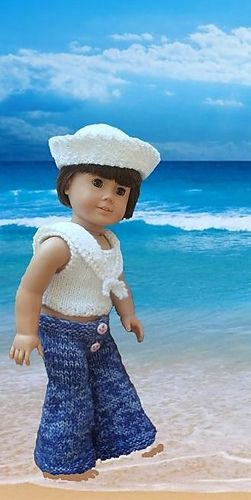 Dungarees pattern by King Cole Ltd | Knitting & Crocheting for Dolls ...