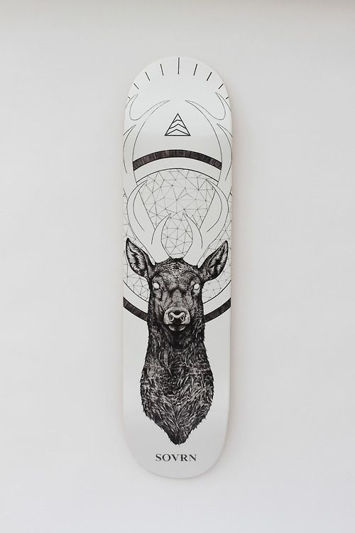 sovrn skate deck by the tattoo artist peter carrington tattoos cerf board skaterboy. Black Bedroom Furniture Sets. Home Design Ideas