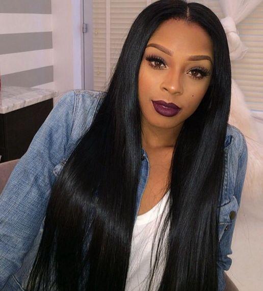 8a Peruvian Virgin Hair Straight Wig Hairstyles Weave