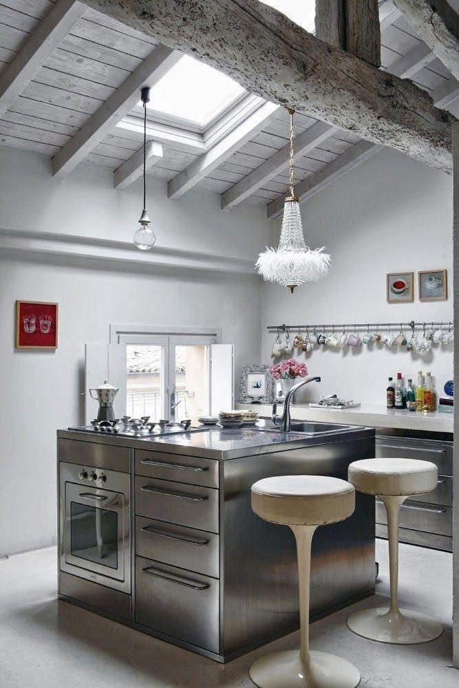 Teto de vidro na cozinha trazendo claridade | Decor | Pinterest | Deko