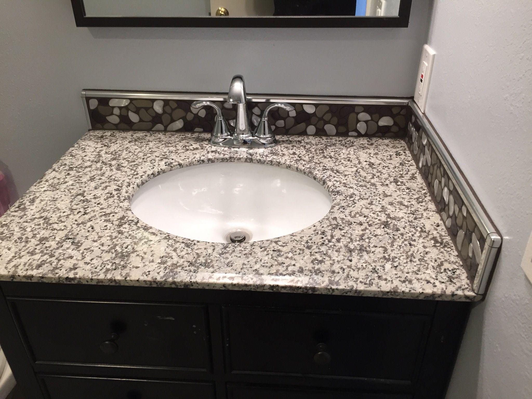 - Backsplash Using Schluter Profiles. Tile Installation, Bathroom