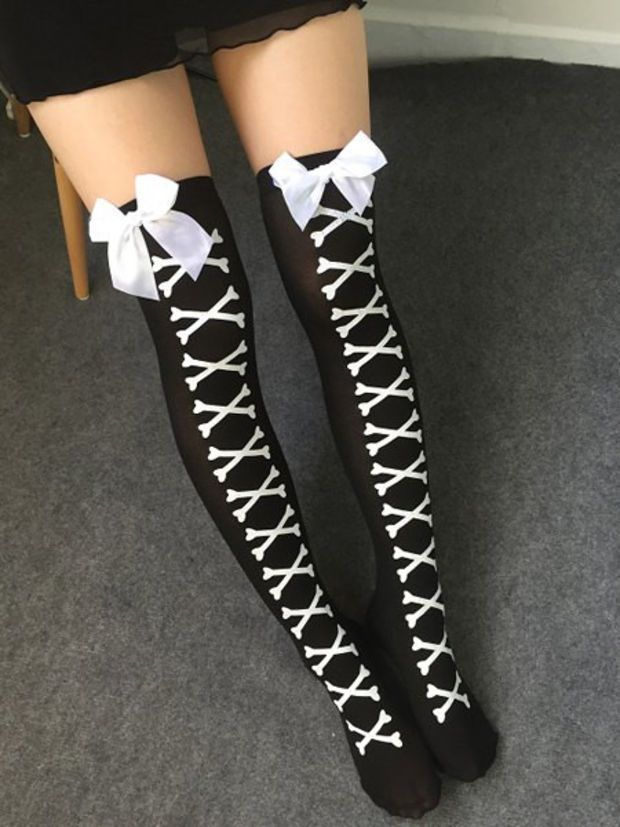 Cheap stocking cap knitting pattern, Buy Quality skeleton shorts directly  from China skeleton gifs Suppliers: Women Sexy Cosplay Striped Knee  stockings ...