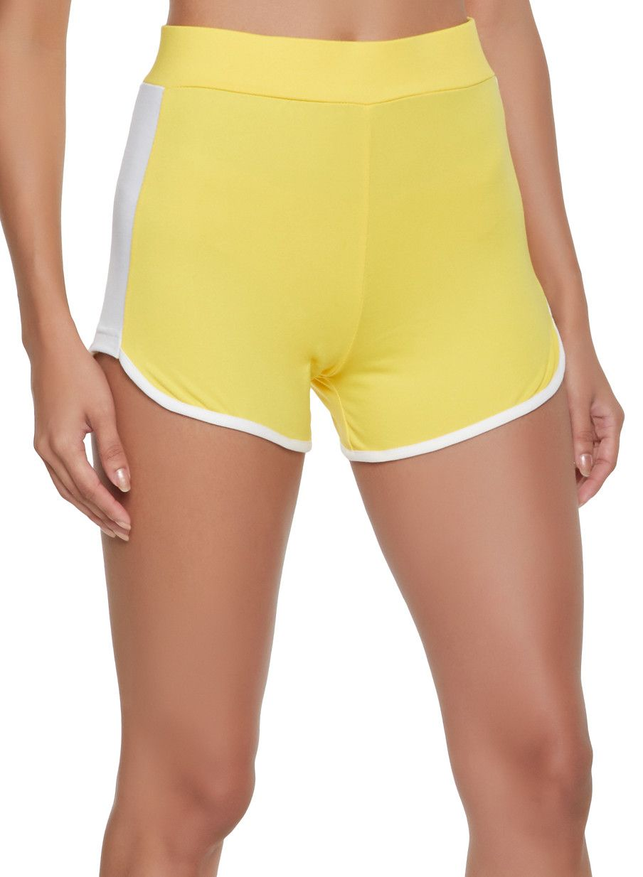 55f5de651e Contrast Trim Dolphin Shorts - Yellow - Size XL in 2019 | Products ...