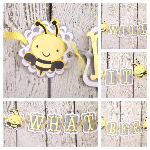 What Will It Bee Baby Shower Gender Reveal Banner