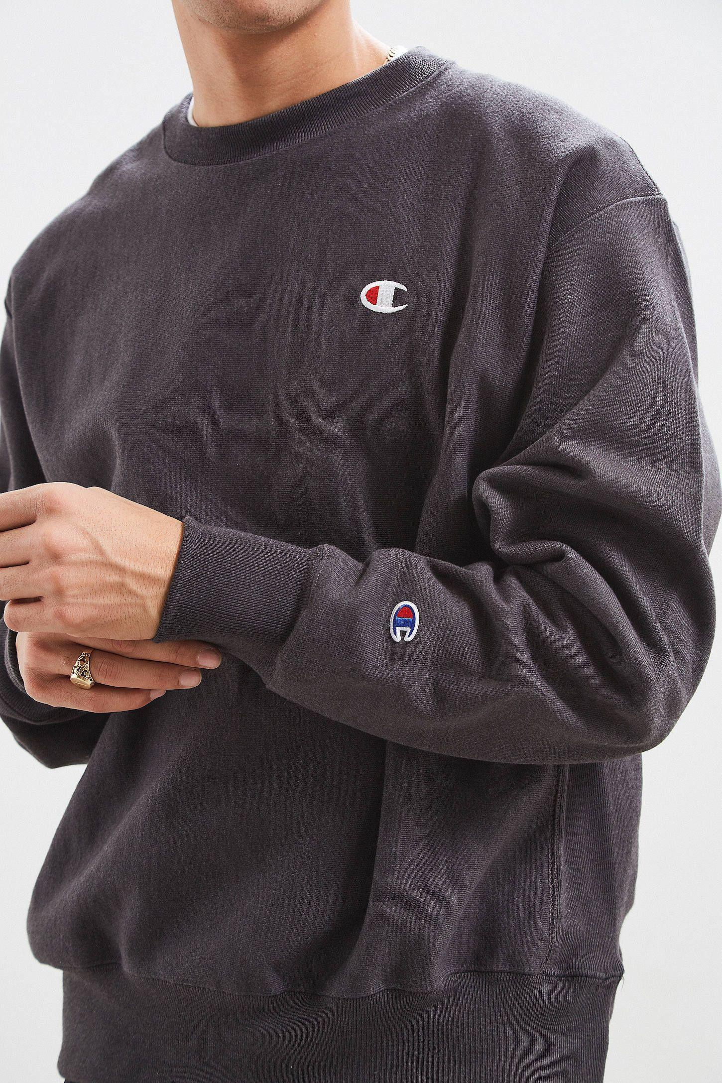 Champion Reverse Weave Fleece Crew Neck Sweatshirt Crew Neck Sweatshirt Sweatshirts Grey Champion Sweatshirt [ 2175 x 1450 Pixel ]