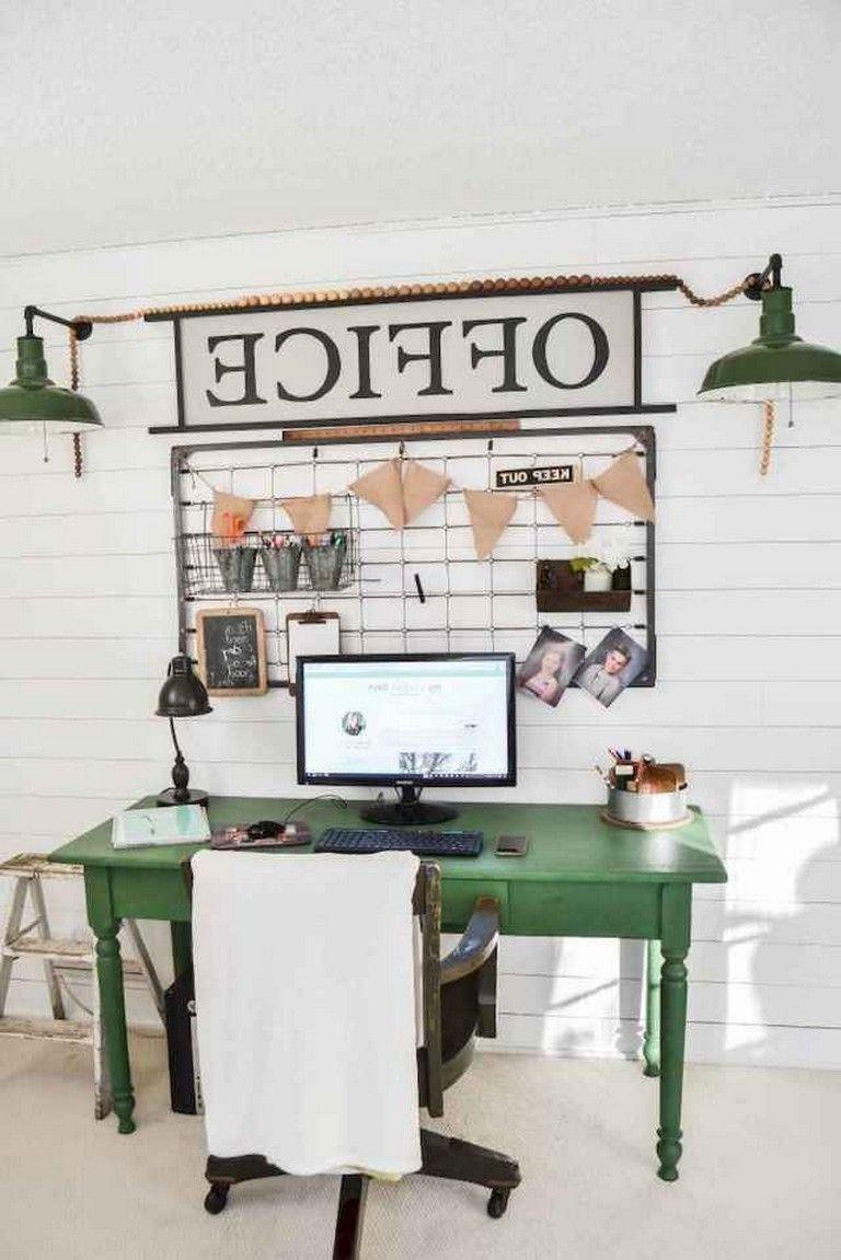 35 Incredible Diy Farmhouse Desk Decor Ideas On A Budget Farmhouse Office Decor Office Desk Decor Home Office Decor