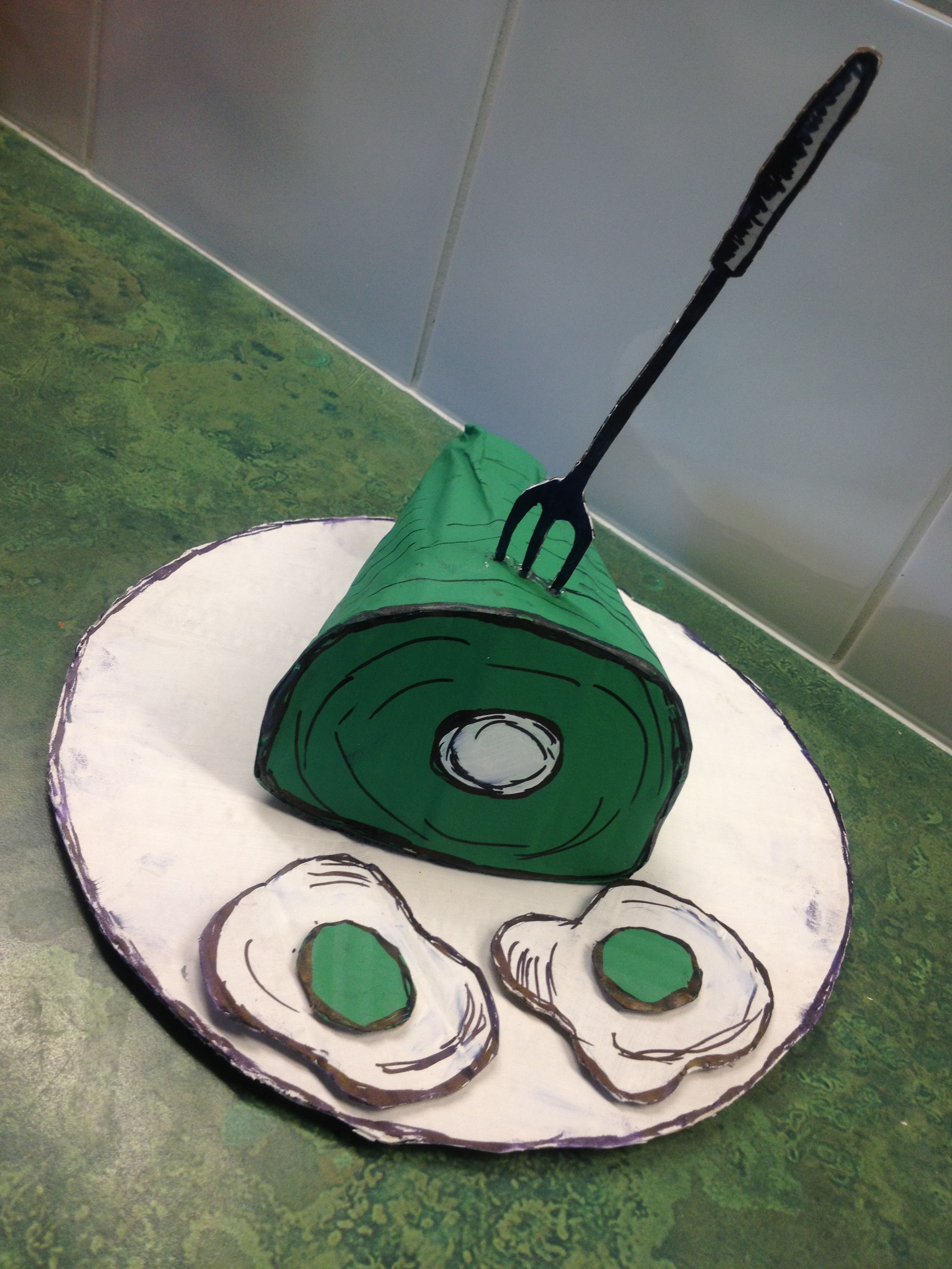 Cute Prop For Green Eggs And Ham Play In The Housekeeping