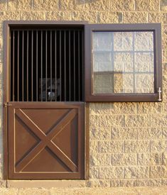 Add A Screen Against The Bars And Better Protection Around The Glass For Horses On The Exterior Whether Window I Horse Stalls Doors Stall Barn Doors Barn Door
