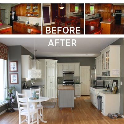 Budget Kitchen Makeovers On Pinterest Refurbished Kitchen Cabinets Mobile Home Makeovers And