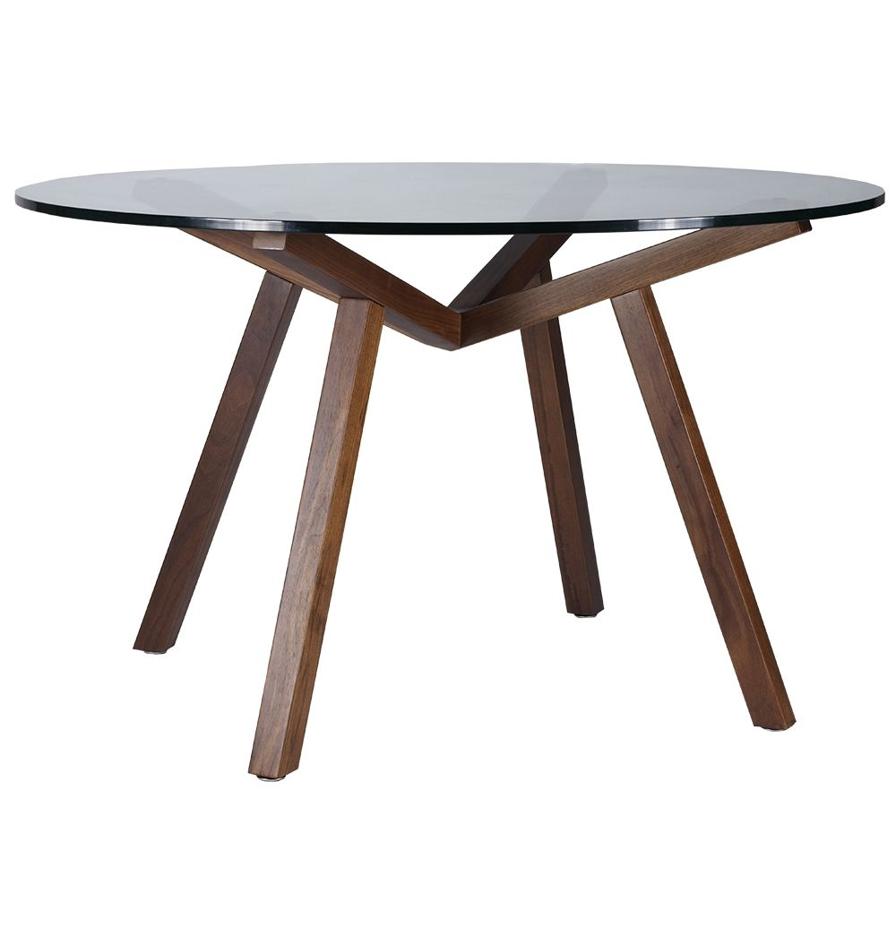 Original Sean Dix Forte Coffee Table Round Glass: ORIGINAL DESIGN SEAN DIX FORTE ROUND GLASS DINING TABLE