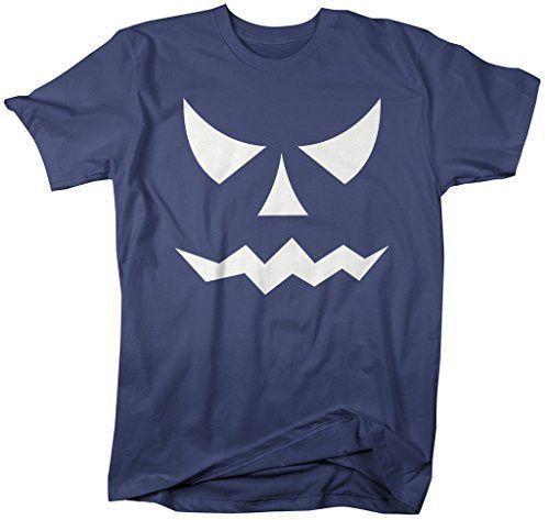 Men\u0027s Glow In The Dark Halloween T-Shirt Scary Pumpkin Face Scary - halloween t shirt ideas