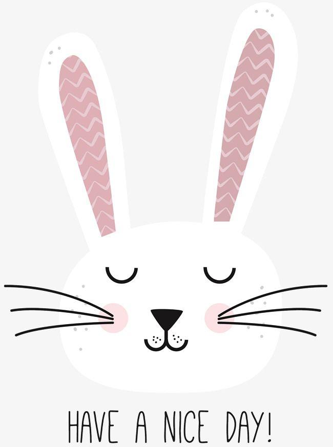 Cute Little cabeza de conejo pintado los ojos cerrados, Conejo ...