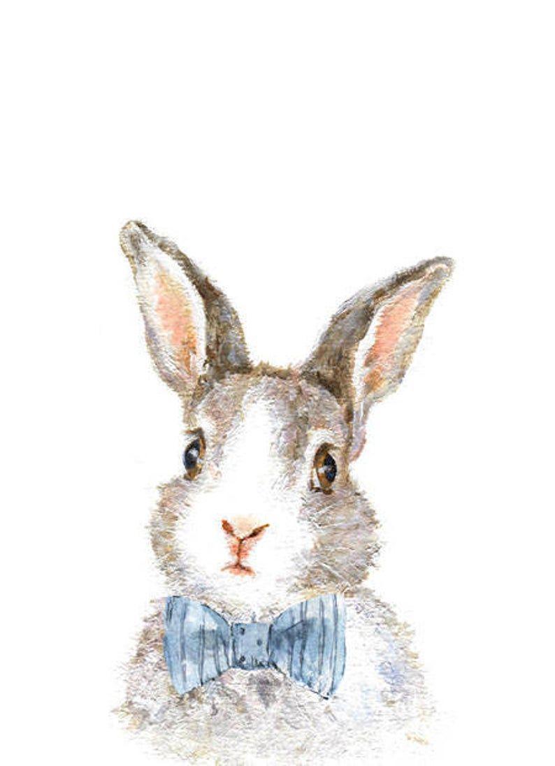Woodland Nursery Art – Woodland animals print set of 4 – Animal prints  – Bunny print – Forest Art Nursery – Bear Print – Fox Print