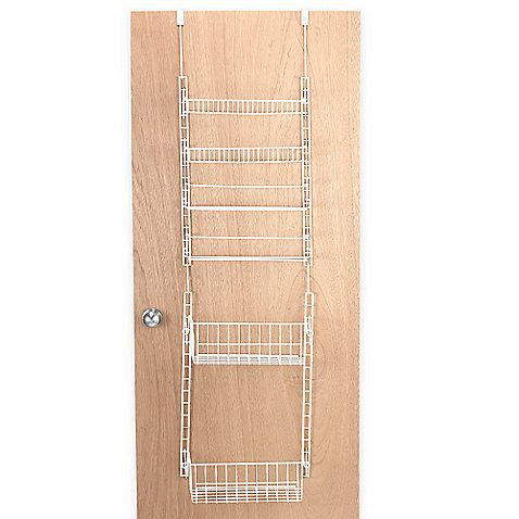 Over-the-door pantry racks easily mount over a door or on a wall.  Provides maximum storage even if you have a small space.