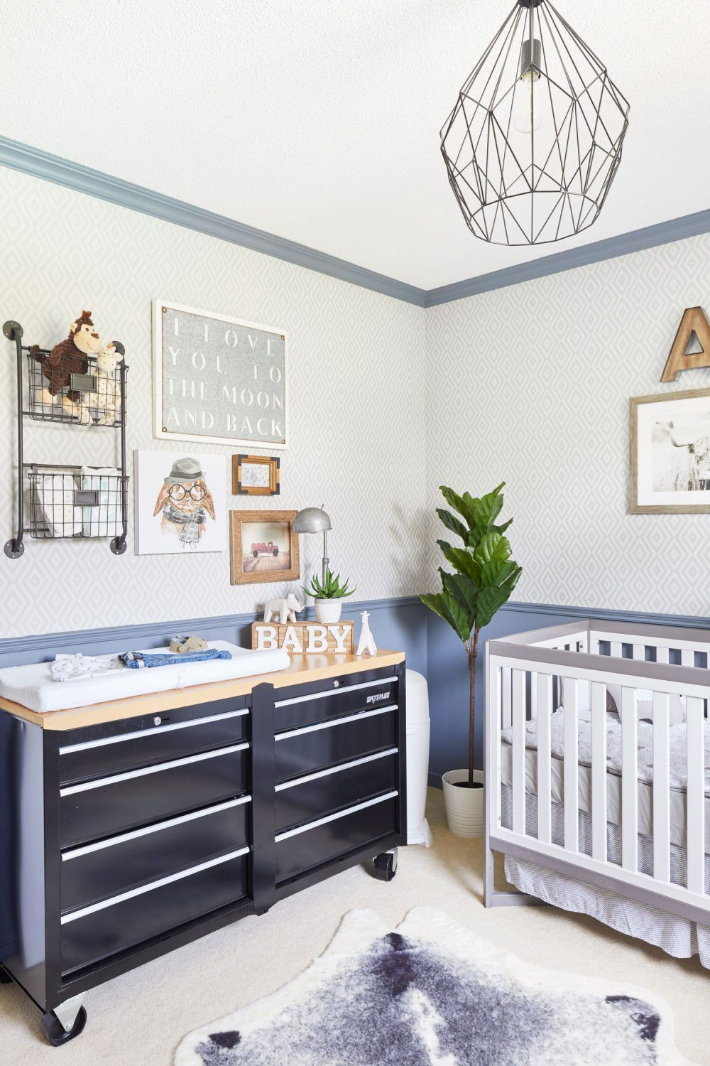 Unique Baby Boy Nursery Ideas: A Baby Boy's Nursery With The Most Unique Change Table You