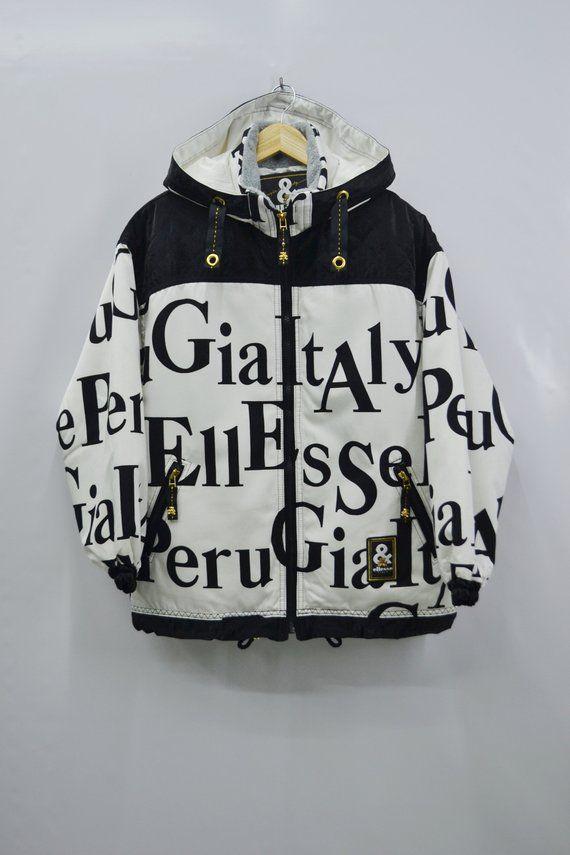 d848d583 Ellesse Windbreaker Ellesse Jacket Sz Jaspo L Vintage Ellesse Italy Big  Logo Winter Ski Jacket Elles