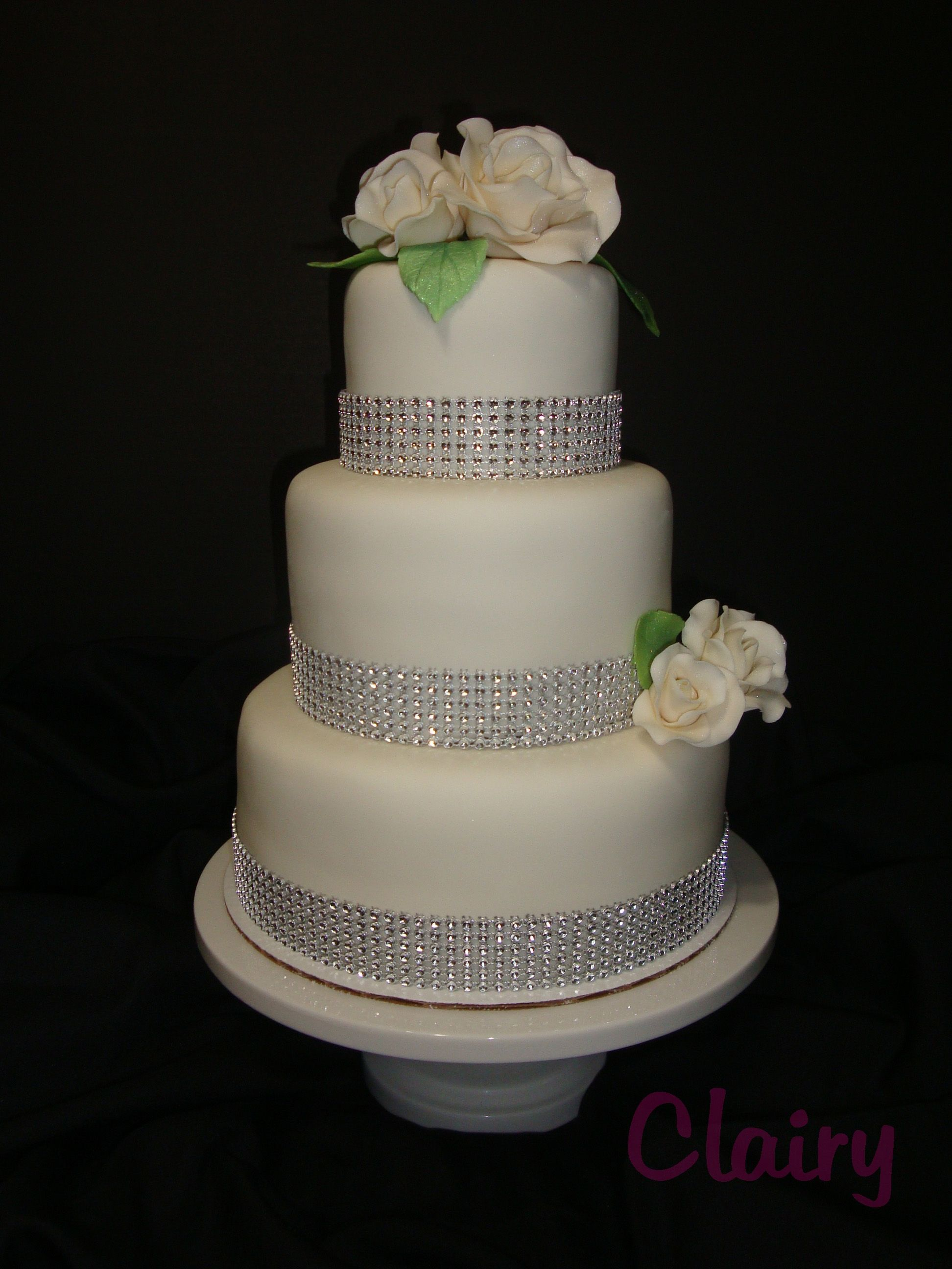 Simply Elegant A simple white wedding cake for Ana and